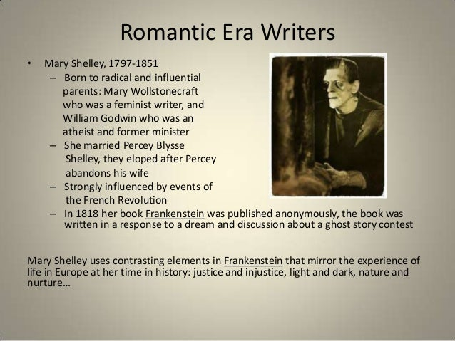 Authors of the romantic era