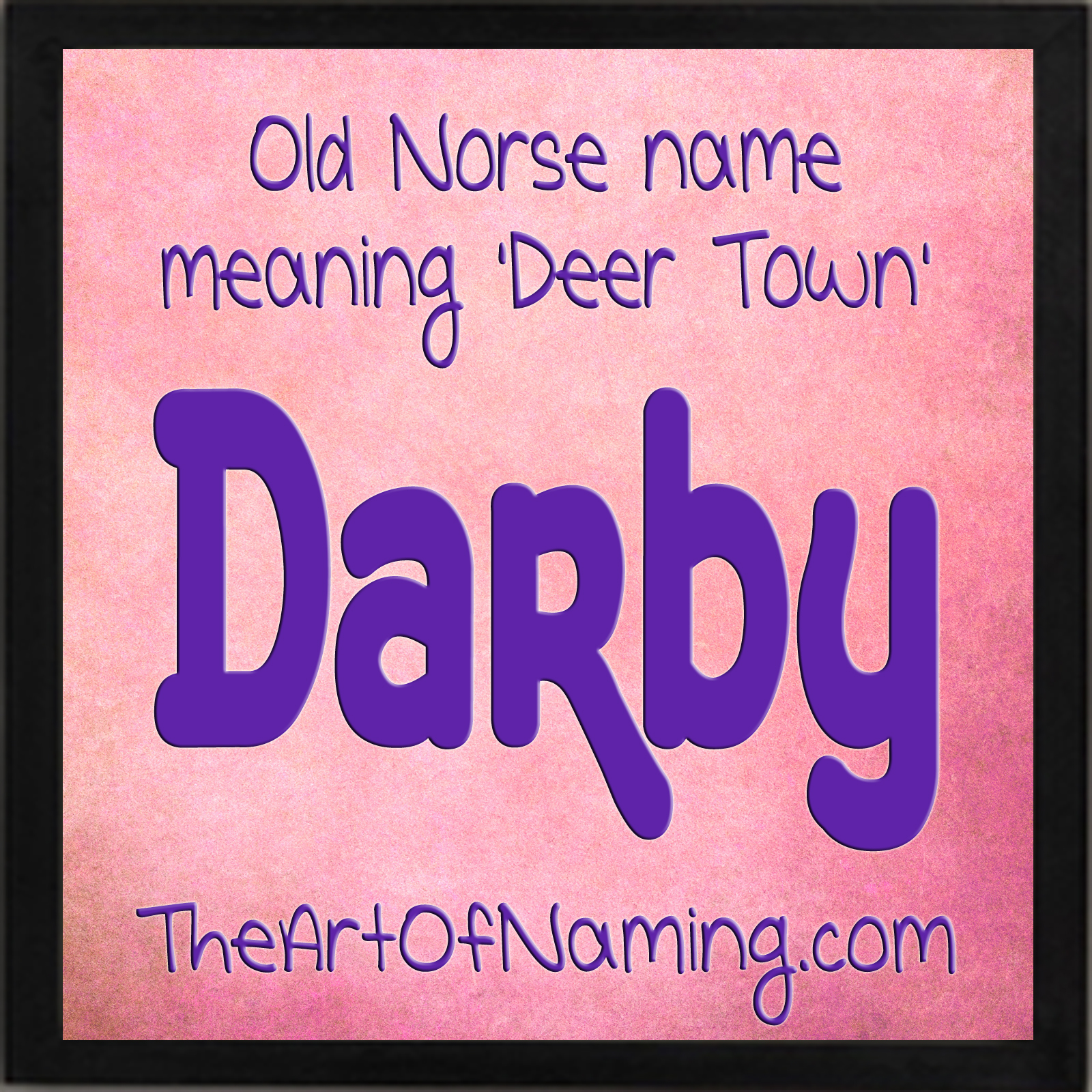 What does the name darby mean