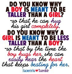 Tall guys with short girlfriends quotes