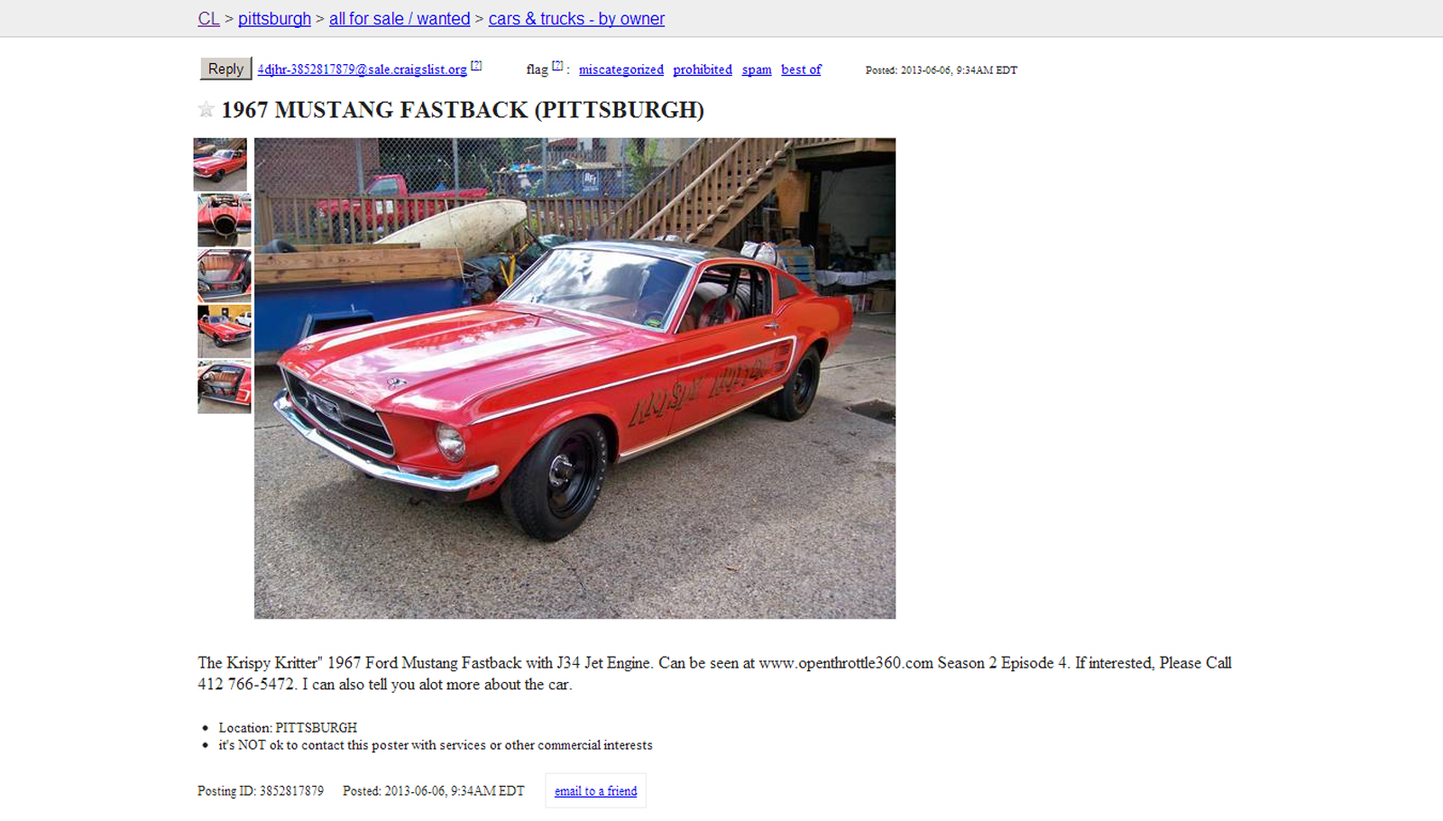 Pittsburgh craigslist cars for sale by owners only.