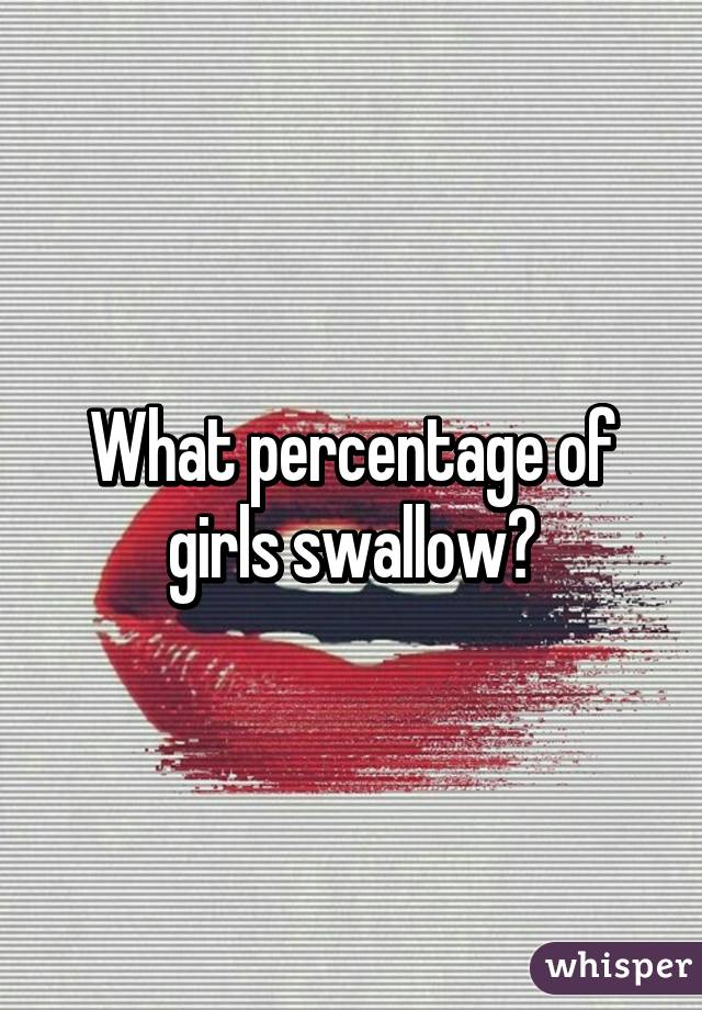 What percentage of women swallow