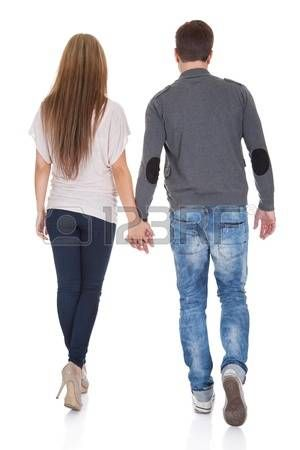 How to hold his hand while walking