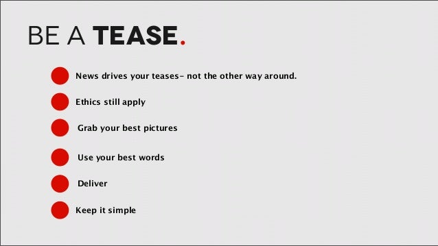 How to be a tease
