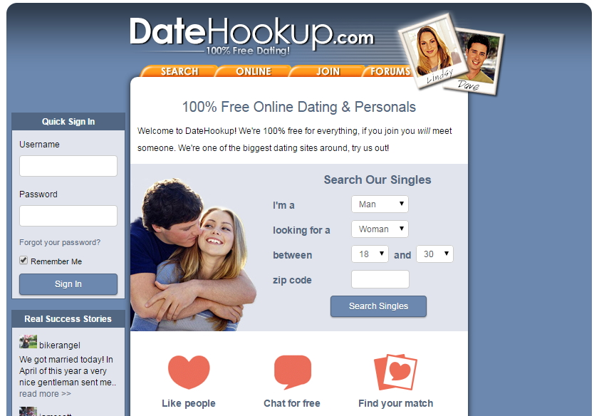 Datehookup com my home