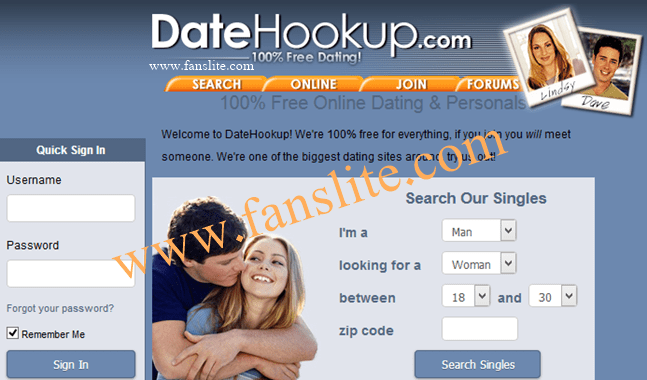 Datehookup login sign up