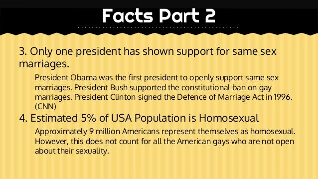 Facts against same sex marriage