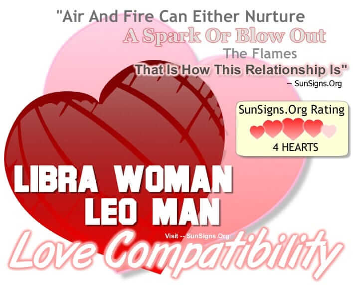 Leo man and libra woman