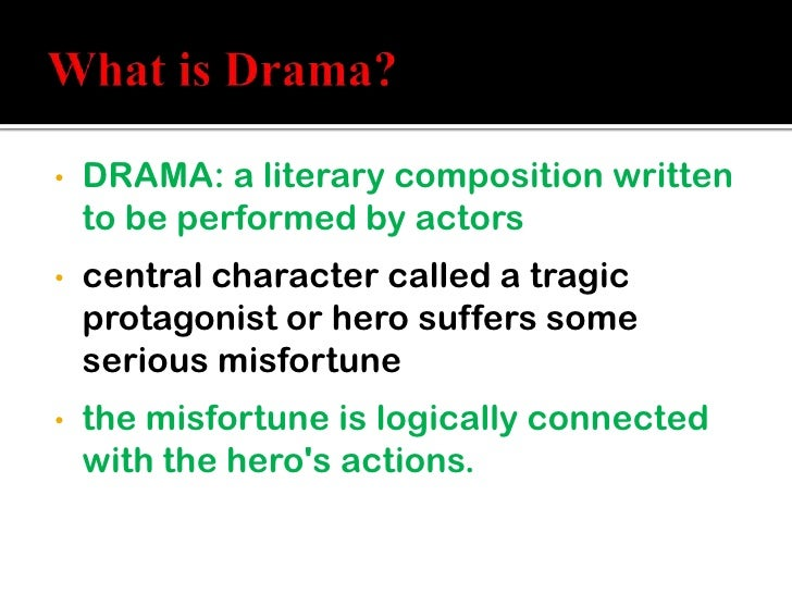 What does drama mean