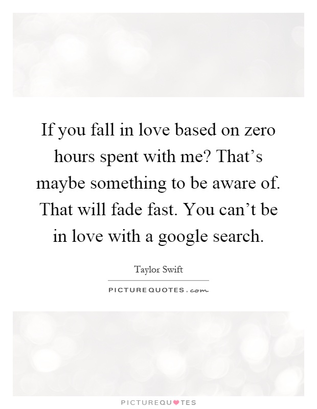 Is it possible to fall in love fast