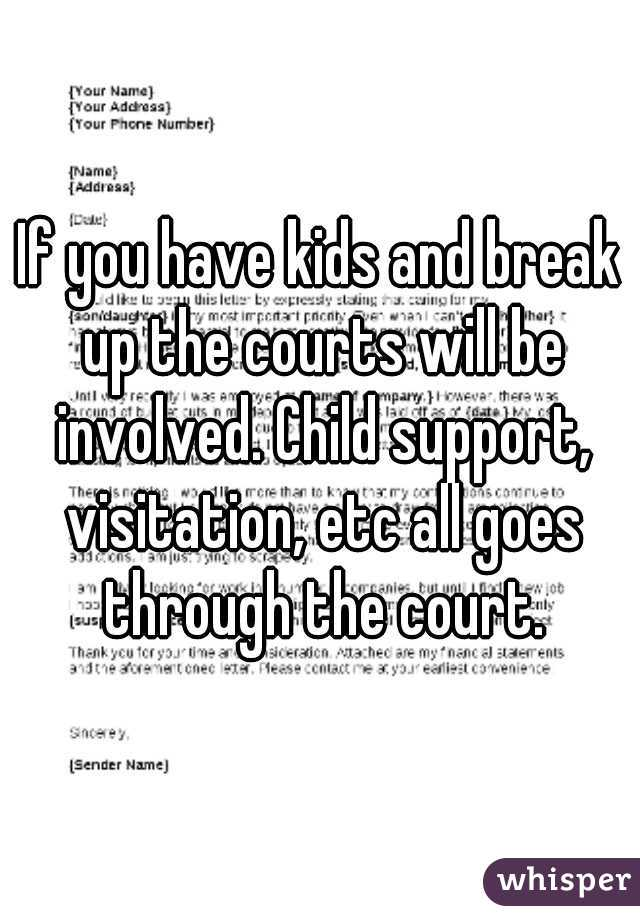 Breaking up with a child involved
