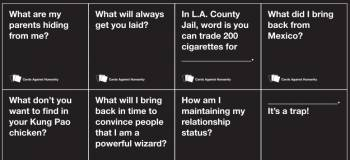 Cards against humanity questions list