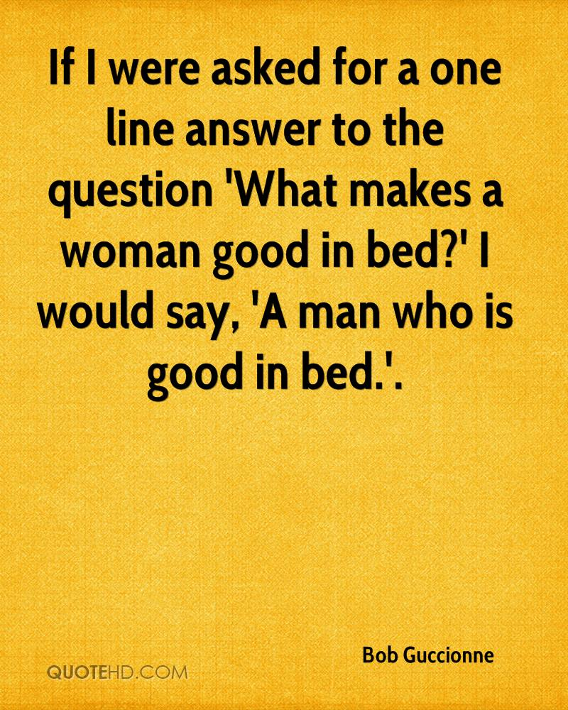 What makes a good woman
