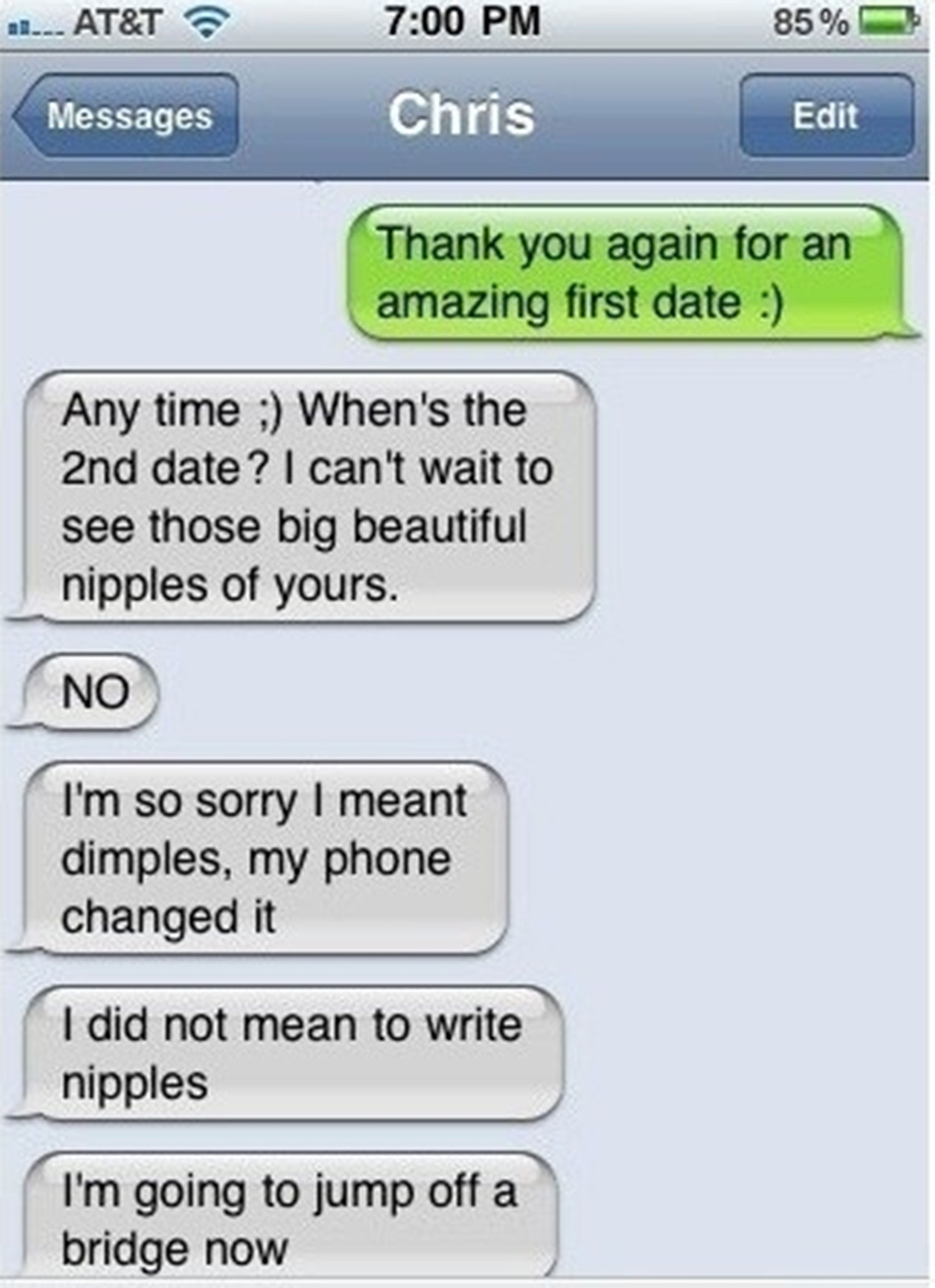 When to text after first date