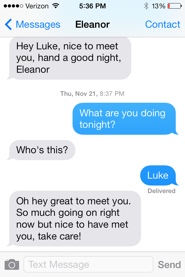 How to reject a guy nicely over text.