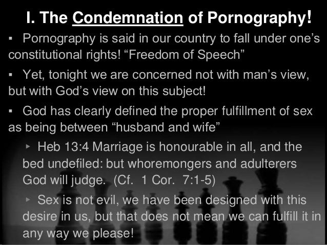 What the bible say about pornography