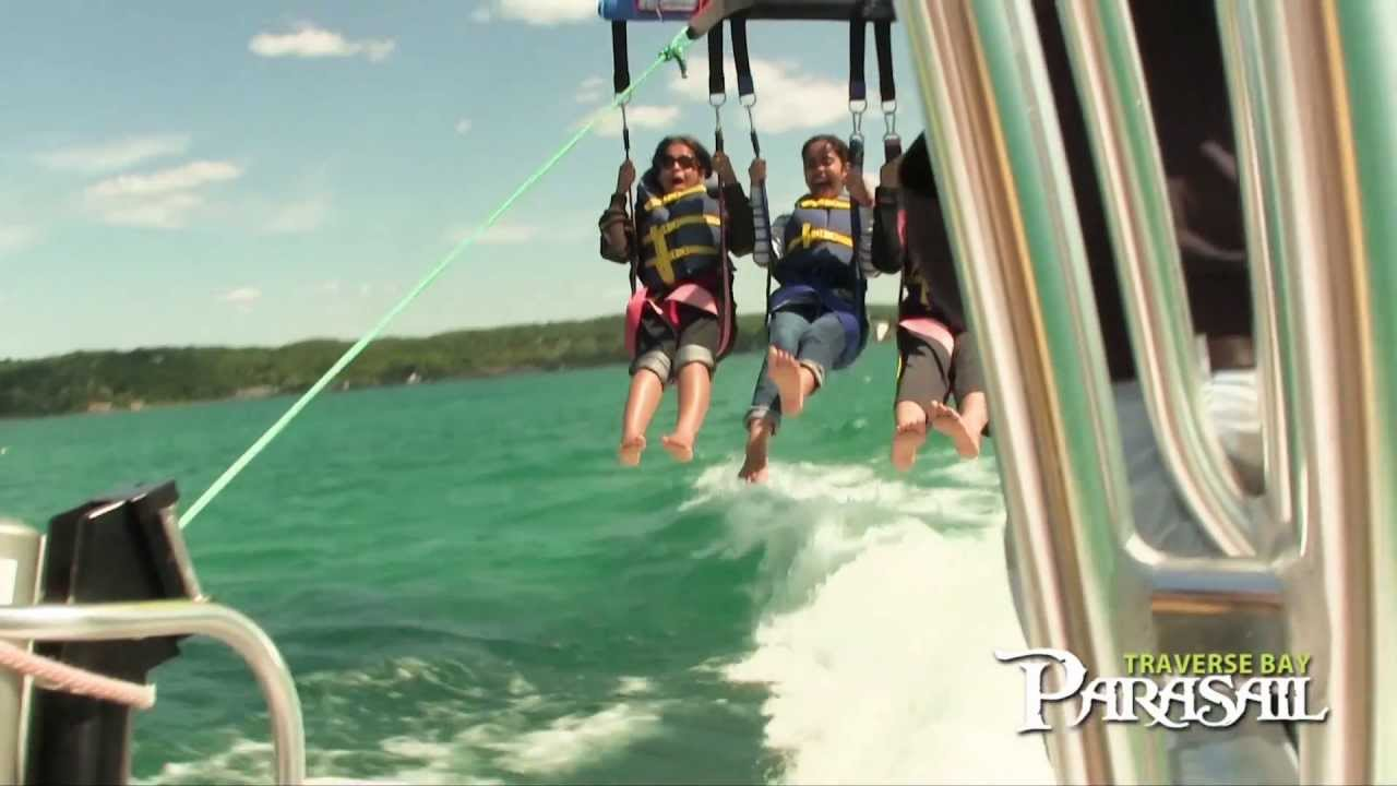 Parasailing in traverse city mi