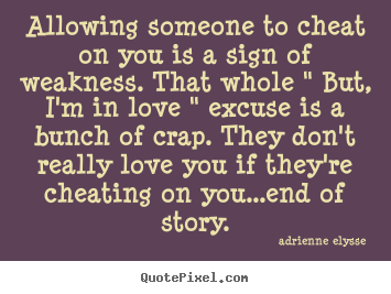 Cheating on someone you love