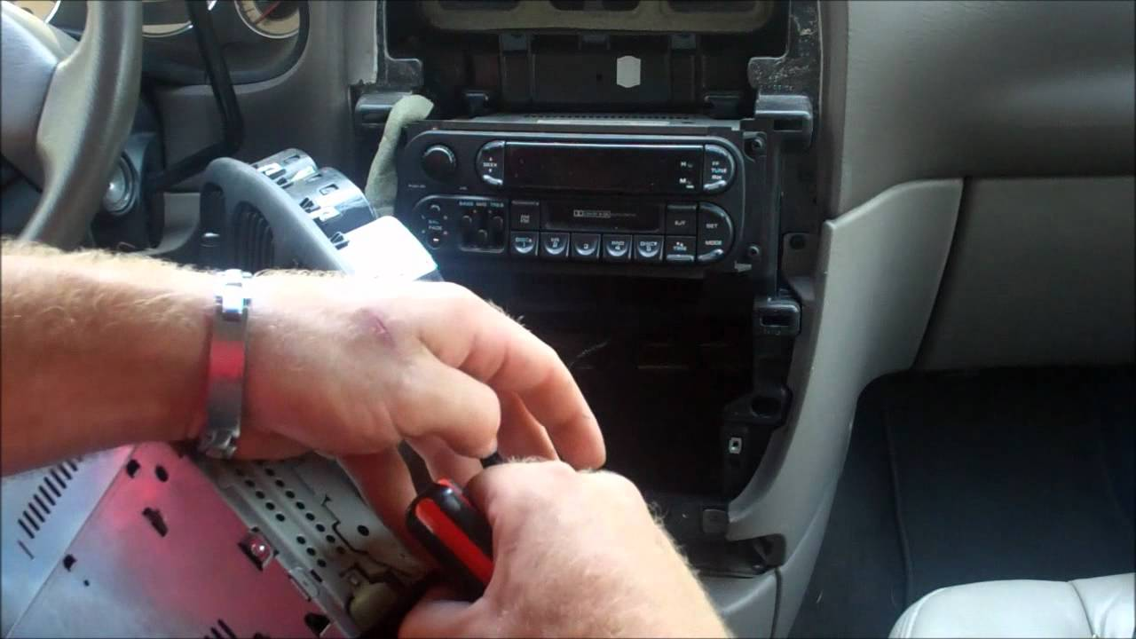 How to remove a stuck cd from car stereo