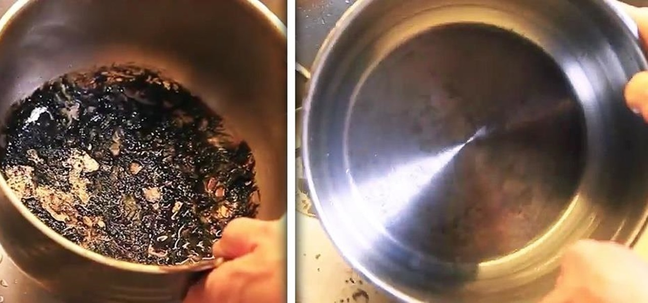 How to get burnt food out of a pot