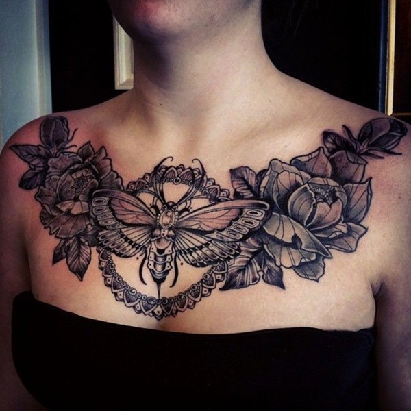 Tattoo on chest female