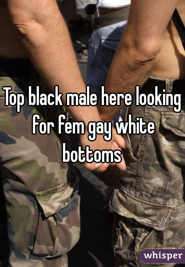 Gay white top black bottom