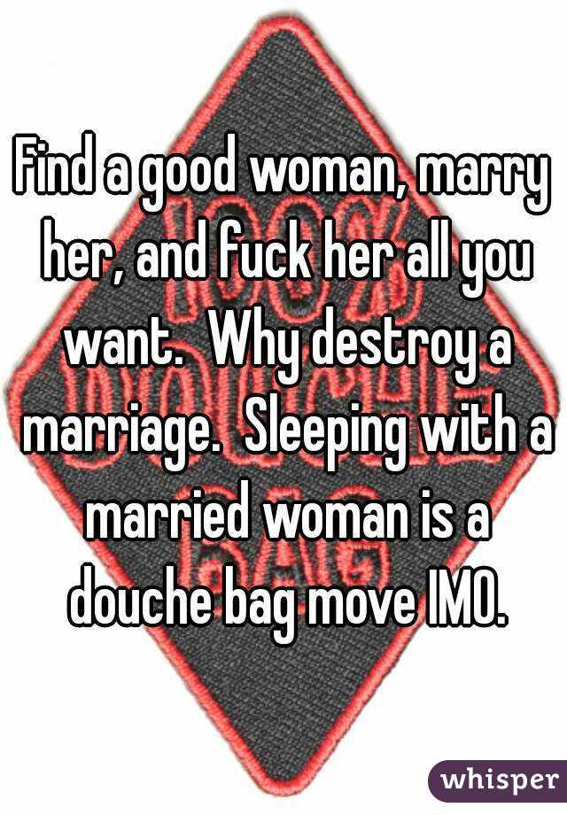 Sleeping with a married woman