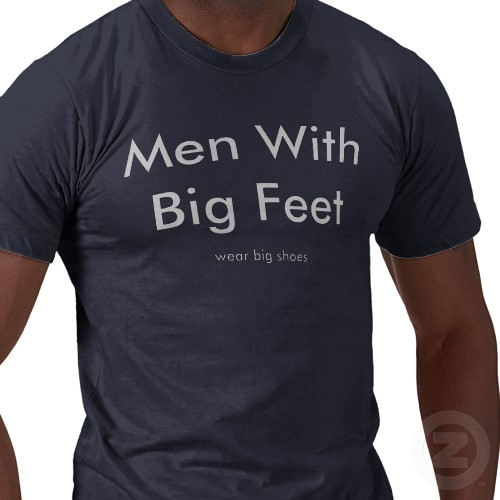 What do they say about guys with big feet