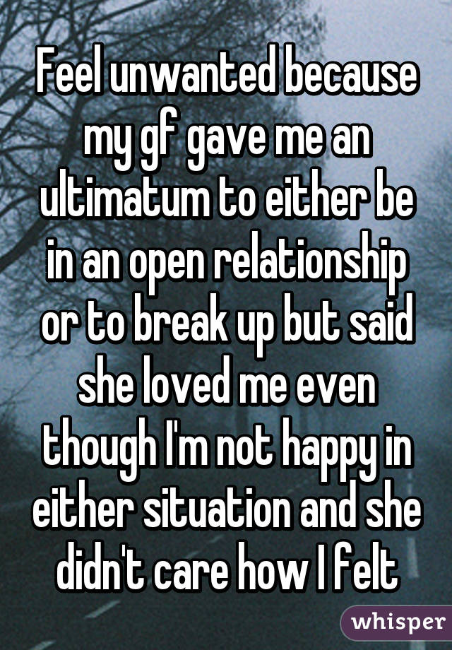 How to handle an ultimatum in a relationship