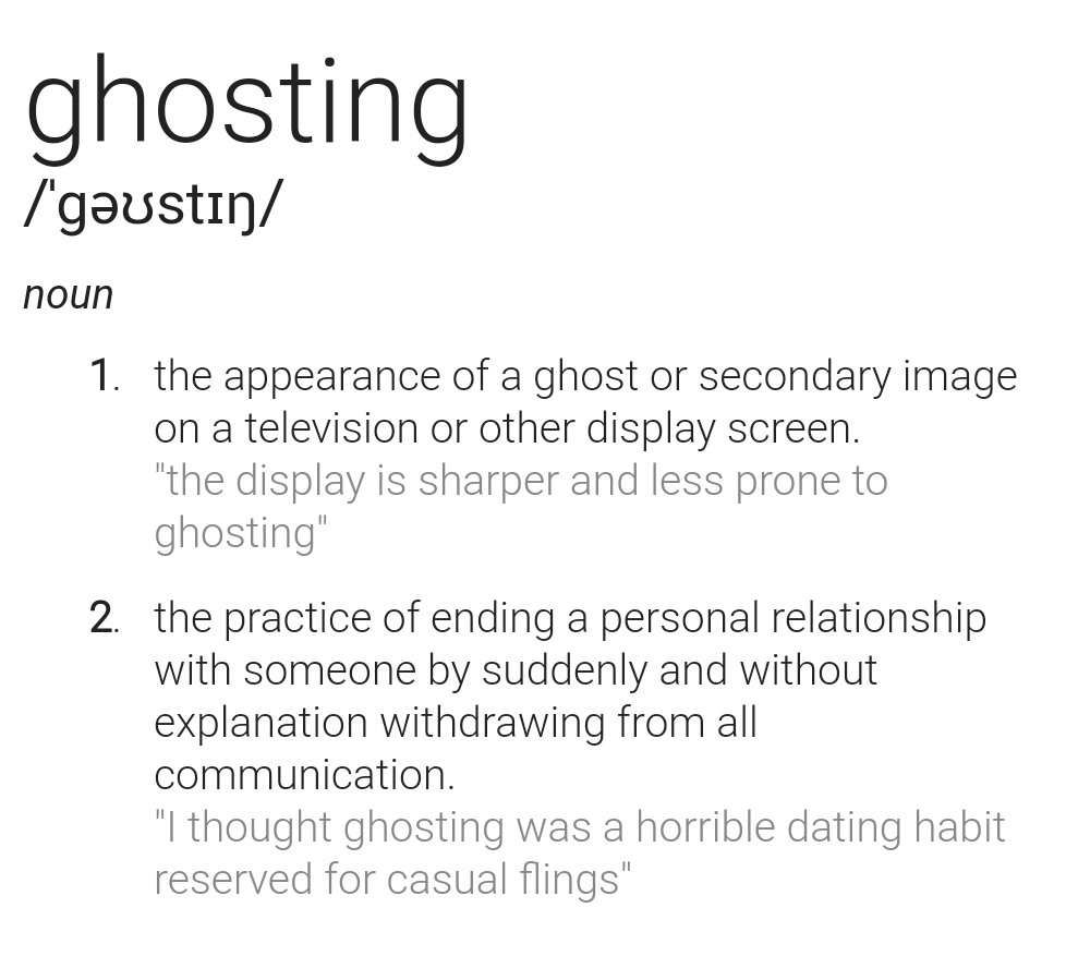 What is ghosting in dating
