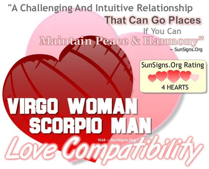 Virgo woman and scorpio man