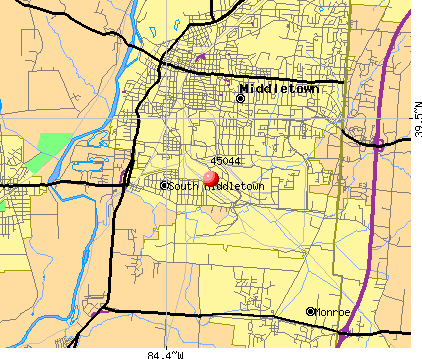 Area code for middletown ohio