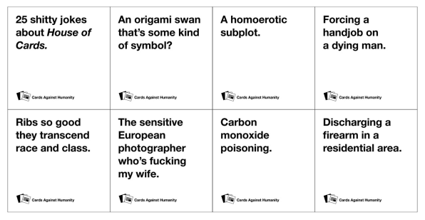 Best Cards Against Humanity White Cards
