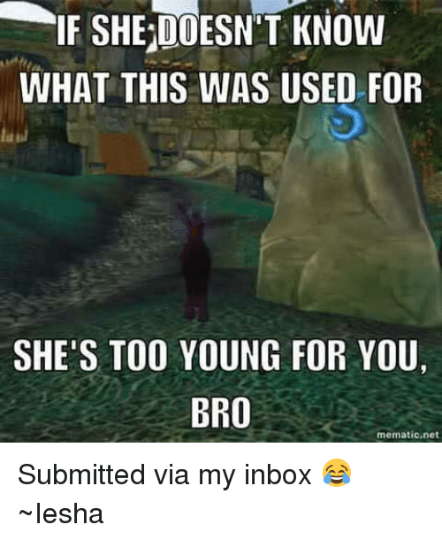 Is she too young for me