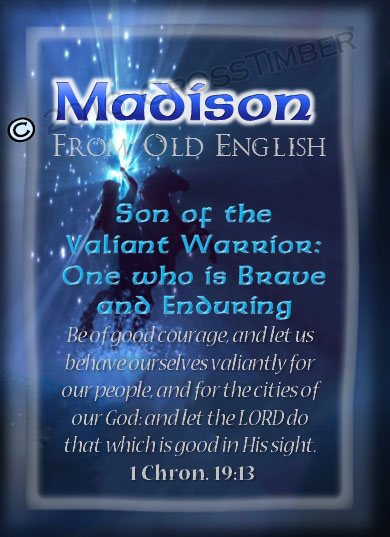 Biblical meaning of madison