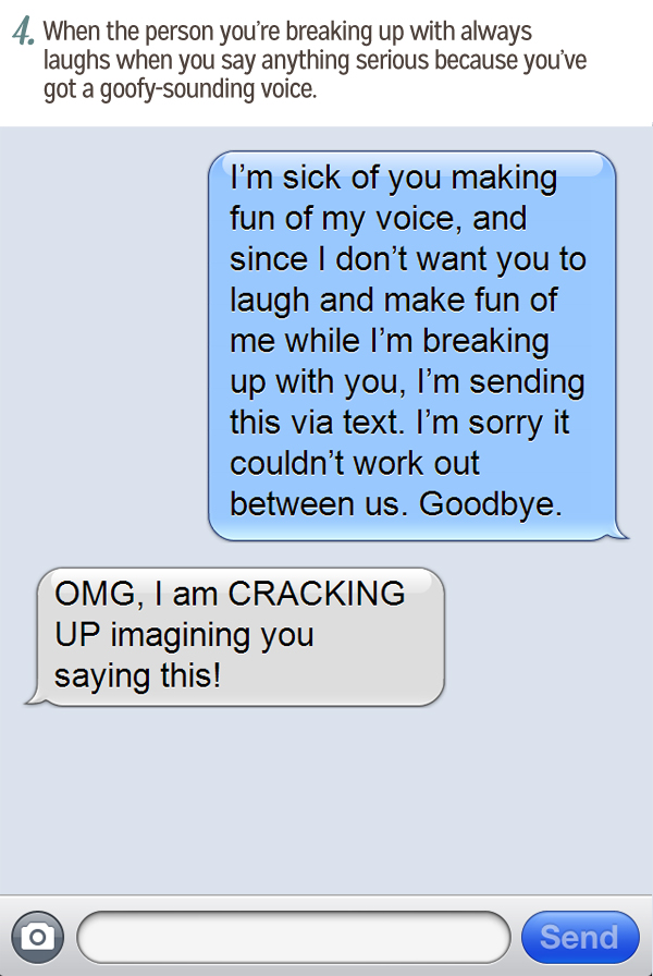Breaking up via text