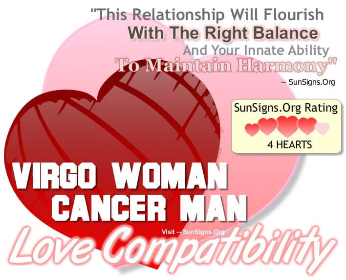 Cancer man virgo woman in bed