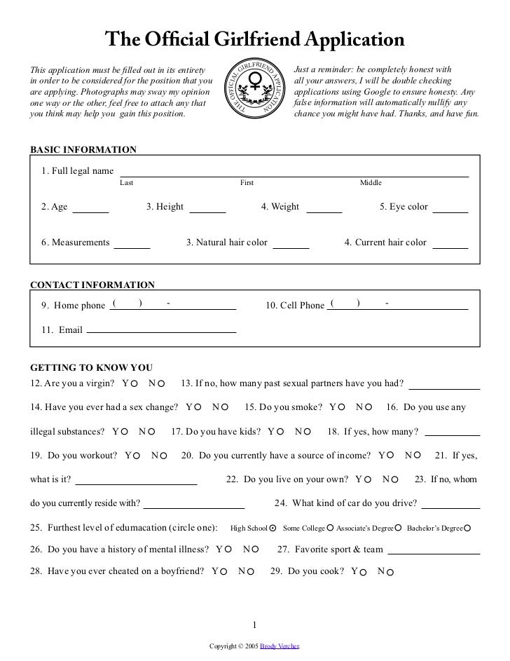 The official girlfriend application