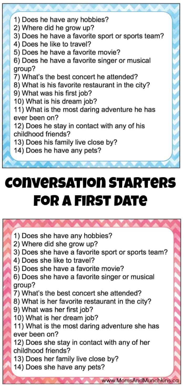 Conversation starters for dating