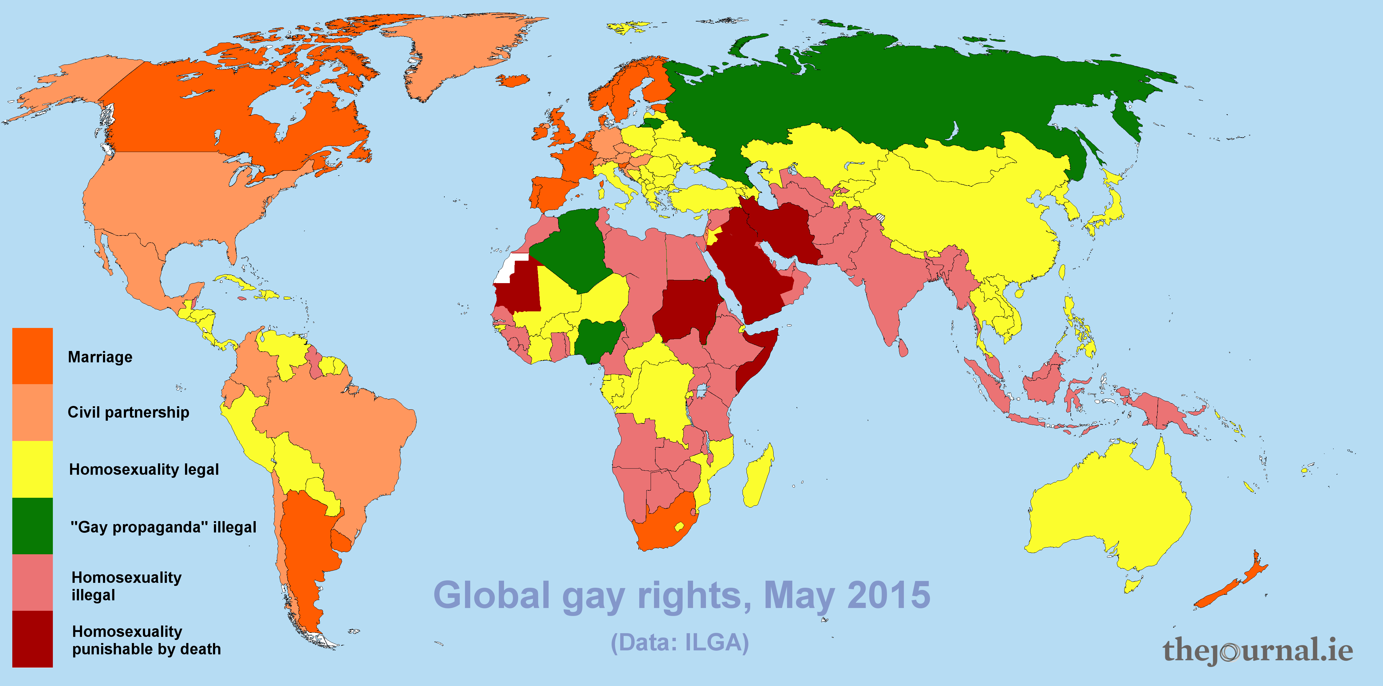 Countries where homosexuality is illegal