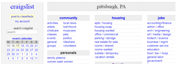 pittsburgh personals craigslist