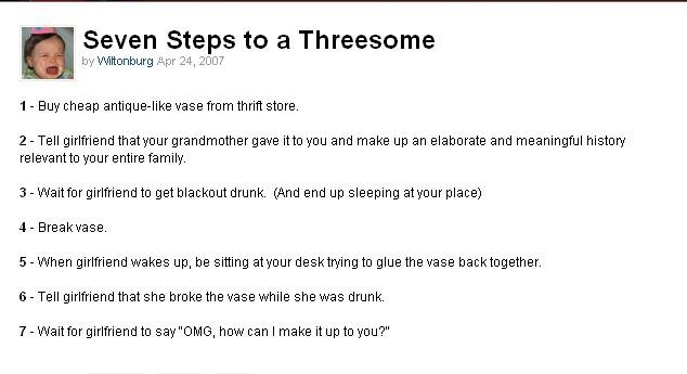 How do you have a threesome