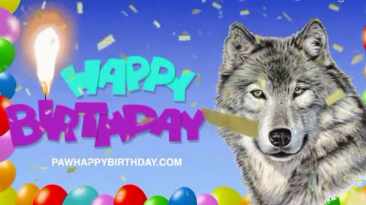 Happy birthday wolf images