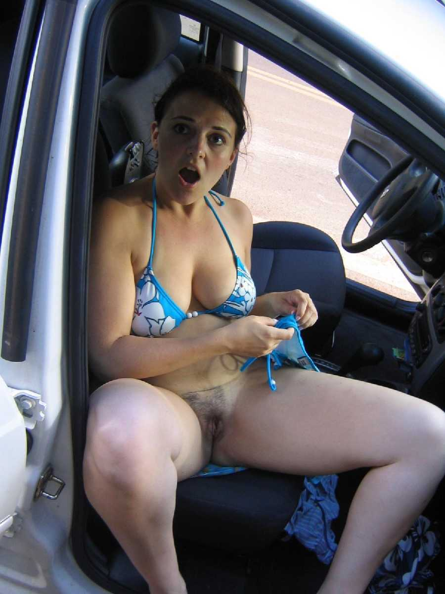 Caught naked in car
