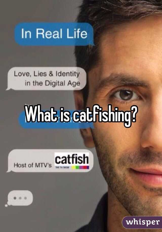 What does cat fishing mean