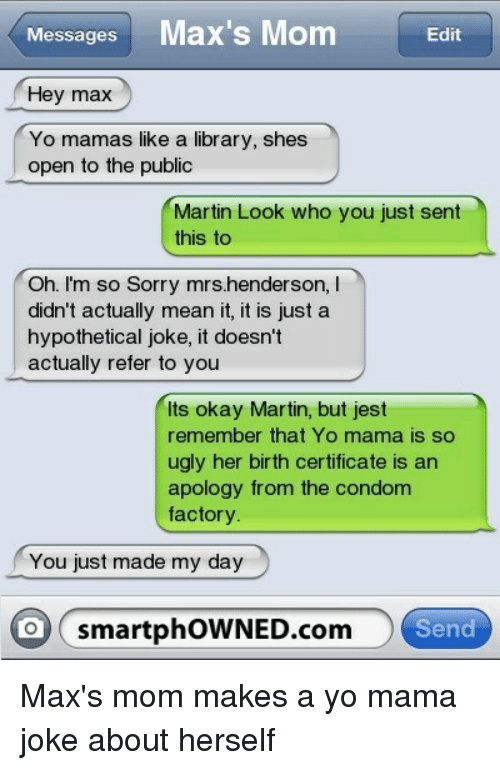 Mean yo mama jokes