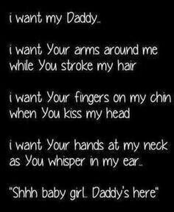 Daddy dom and baby girl quotes.