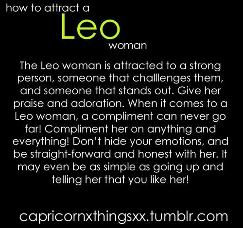 Moon in leo man attracted to