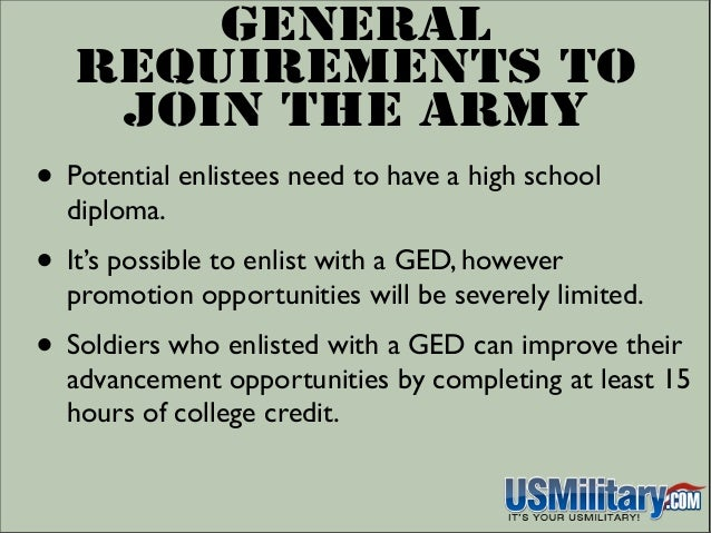 Do you need a ged to join the army
