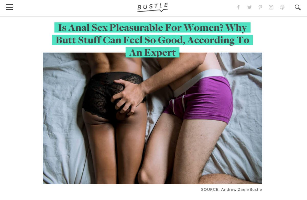 Does anal feel good for a girl