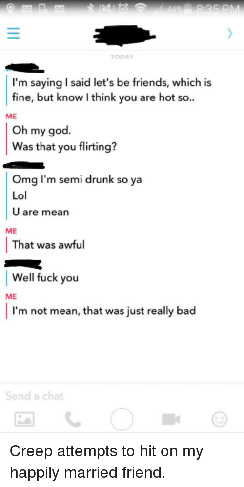 Drunk flirting what does it mean